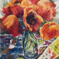 Poppies, Paper, and Paint