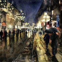 Rainy Night in the Cty