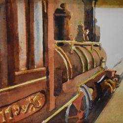 This Train's Rolling, watercolor on cold press paper